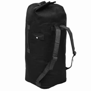 vidaXL Militaristinio stiliaus daiktų krepšys, 85l, juodas[2/6]