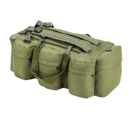 vidaXL 3-in-1 Army-Style Duffel Bag 120 L Olive Green