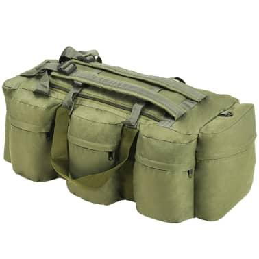 vidaXL Militaristinio stil. daiktų krepšys, 3-1, 120l, alyv. žal. sp.[1/6]