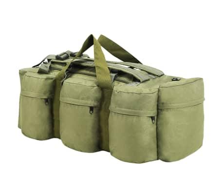 vidaXL Militaristinio stil. daiktų krepšys, 3-1, 120l, alyv. žal. sp.[2/6]