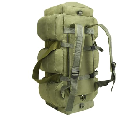 vidaXL Militaristinio stil. daiktų krepšys, 3-1, 120l, alyv. žal. sp.[3/6]