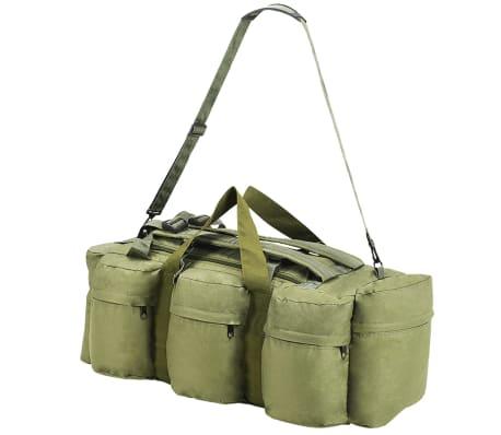 vidaXL Militaristinio stil. daiktų krepšys, 3-1, 120l, alyv. žal. sp.[4/6]