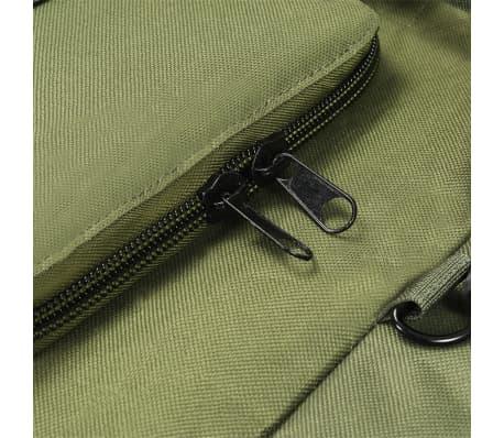 vidaXL Militaristinio stil. daiktų krepšys, 3-1, 120l, alyv. žal. sp.[6/6]