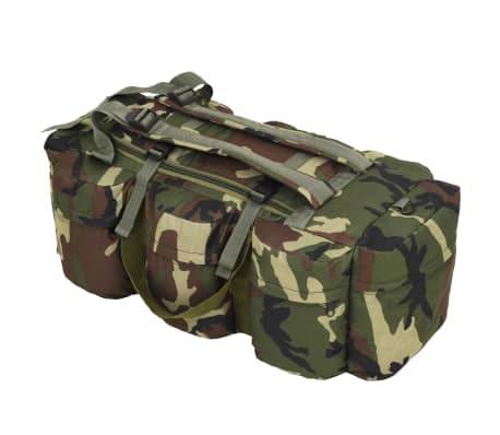 vidaXL Bolso de lona estilo militar 3-en-1 120 L camuflaje[1/6]