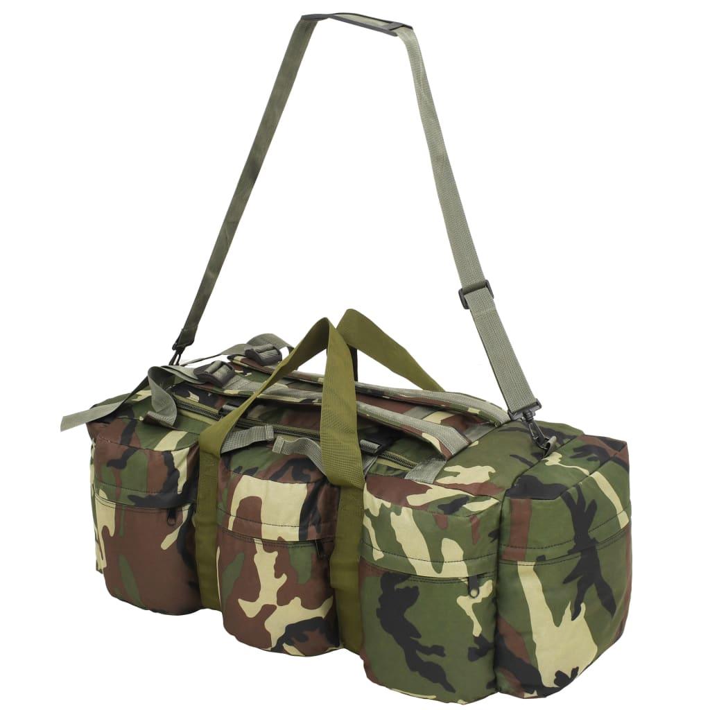 vidaXL Plunjezak 3-in-1 legerstijl 120 L camouflage