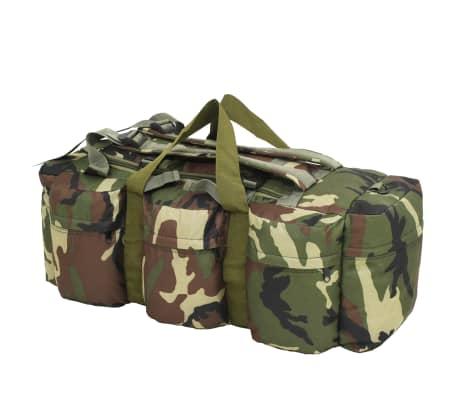 vidaXL Bolso de lona estilo militar 3-en-1 120 L camuflaje[2/6]