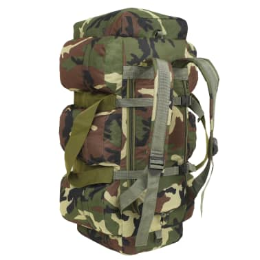vidaXL Bolso de lona estilo militar 3-en-1 120 L camuflaje[3/6]