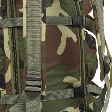 vidaXL Bolso de lona estilo militar 3-en-1 120 L camuflaje[5/6]