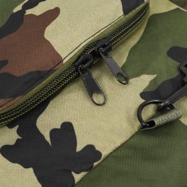 vidaXL Bolso de lona estilo militar 3-en-1 120 L camuflaje[6/6]