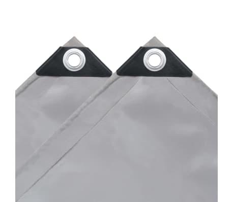 vidaXL Tarpaulin 650 g/m² 3x3 m Grey[4/5]