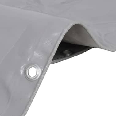 vidaXL Tarpaulin 650 g/m² 3x3 m Grey[2/5]