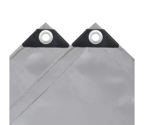 vidaXL Tarpaulin 650 g/m² 4x8 m Grey[4/5]