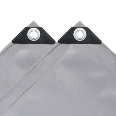 "vidaXL Tarpaulin 650 g/m² 13.1""x26.2"" Gray[4/5]"