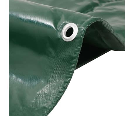 vidaXL Bâche 650 g / m² 2 x 3 m Vert[2/5]