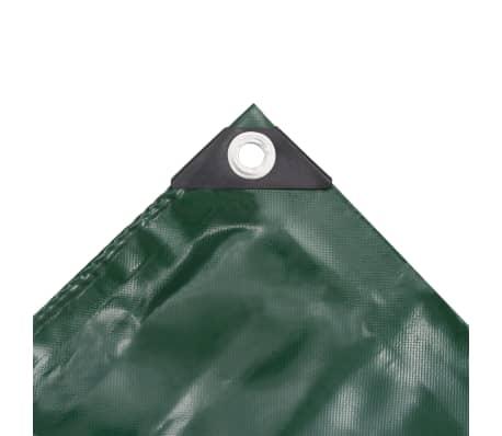 vidaXL Bâche 650 g / m² 2 x 3 m Vert[3/5]