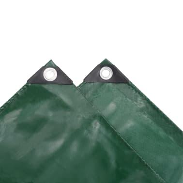vidaXL Bâche 650 g / m² 2 x 3 m Vert[4/5]