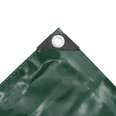 vidaXL Lona 650 g/m² 3x3 m verde[3/5]