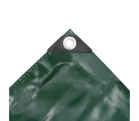 vidaXL Bâche 650 g / m² 3 x 6 m Vert[3/5]