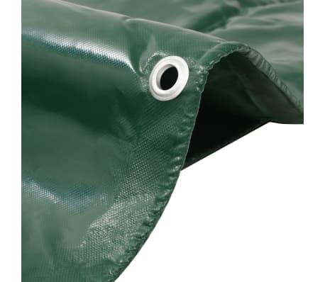vidaXL Zaščitna ponjava 650 g/m² 4x4 m zelena[2/5]