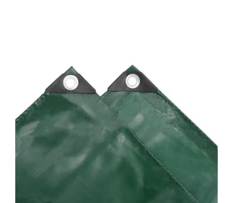 vidaXL Zaščitna ponjava 650 g/m² 4x4 m zelena[4/5]