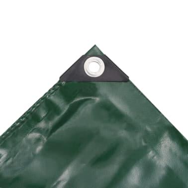 vidaXL Zaščitna ponjava 650 g/m² 4x4 m zelena[3/5]