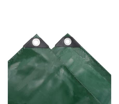 vidaXL Tarpaulin 650 g/m² 4x7 m Green[4/5]