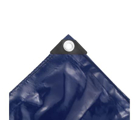 vidaXL Bâche 650 g / m² 4 x 4 m Bleu[4/5]