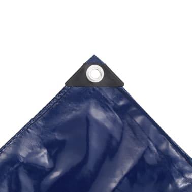 vidaXL Bâche 650 g / m² 4 x 5 m Bleu[4/5]