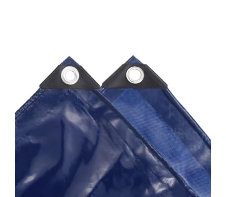 vidaXL Zaščitna ponjava 650 g/m² 4x8 m modra[3/5]