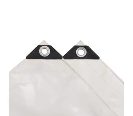 vidaXL Telone 650 g/m² 4x4 m Bianco[3/5]