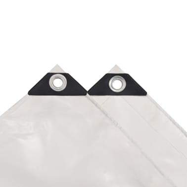 vidaXL Bâche 650 g / m² 4 x 4 m Blanc[3/5]