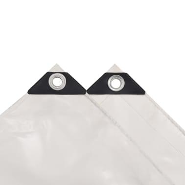 vidaXL Bâche 650 g / m² 4 x 5 m Blanc[3/5]