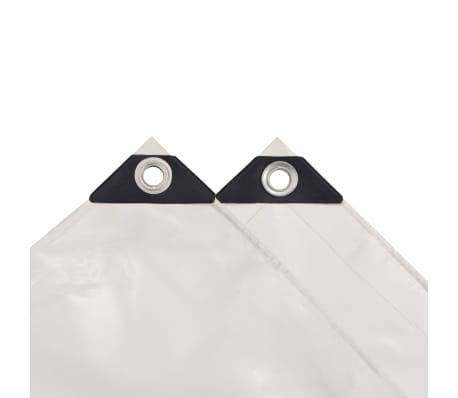 vidaXL Tarpaulin 650 g/m² 4x7 m White[3/5]