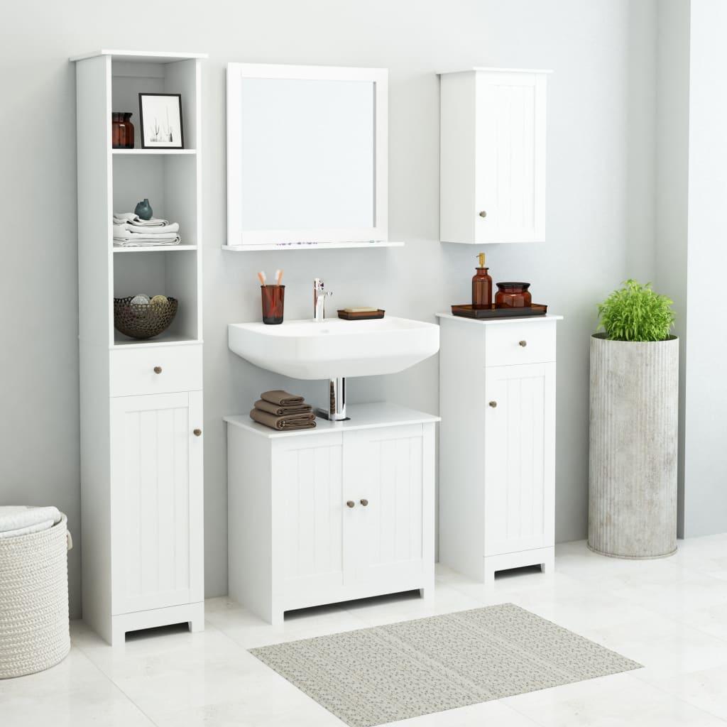 vidaXL Sada nábytku do koupelny 5 kusů bílý