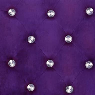 vidaXL Krzesła do jadalni, 2 szt., drewno dębowe i aksamit, fioletowy[7/8]