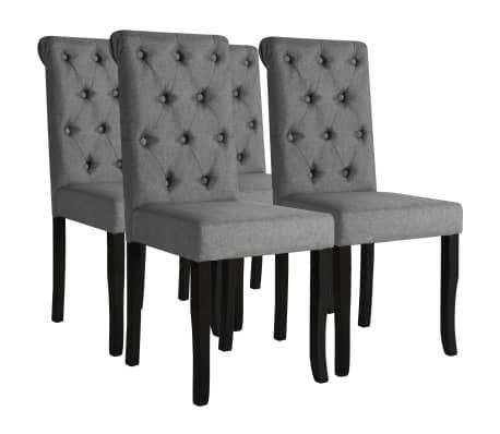 Vidaxl 4x sillas de comedor madera gris oscuro asiento for Cocina de madera gris oscuro