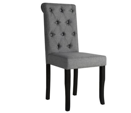 vidaXL Sillas de comedor madera maciza gris oscuro 4 unidades[2/7]