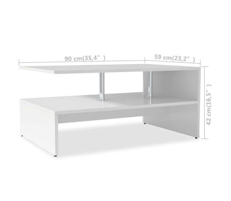 vidaXL sofabord spånplade 90 x 59 x 42 cm hvid[6/6]