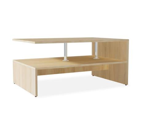 vidaXL Kavos staliukas, med. drožlių plokštė, 90x59x42cm, ąžuolas  spalvos