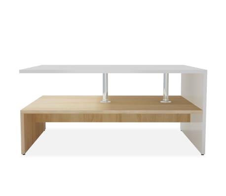 vidaXL sofabord spånplade 90 x 59 x 42 cm egetræ og hvid[3/6]