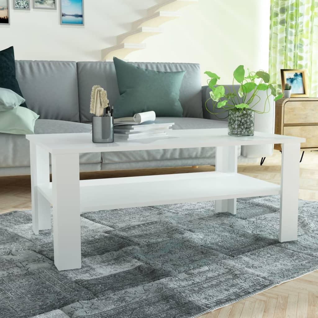 vidaXL Konferenční stolek dřevotříska 100x59x42 cm bílá