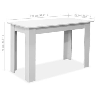 vidaXL Eettafel en banken 3 st spaanplaat wit[6/7]