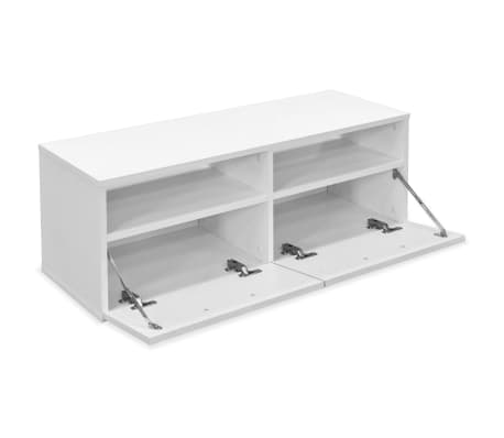 vidaxl meuble tv agglom r 95 x 35 x 36 cm blanc. Black Bedroom Furniture Sets. Home Design Ideas