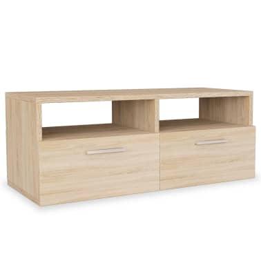 vidaXL Tv-meubel 95x35x36 cm spaanplaat eikenkleurig[2/5]