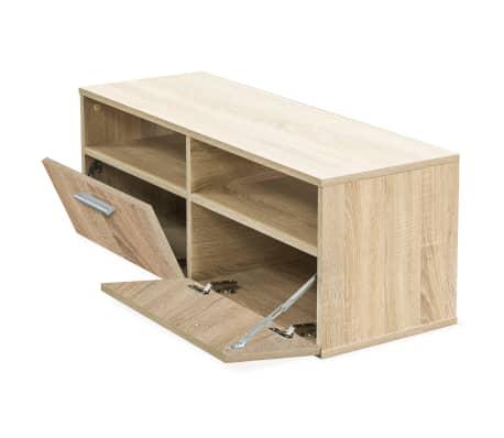 vidaXL Tv-meubel 95x35x36 cm spaanplaat eikenkleurig[3/5]