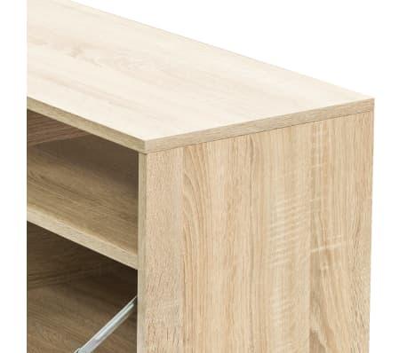 acheter vidaxl meuble tv agglom r 95 x 35 x 36 cm ch ne pas cher. Black Bedroom Furniture Sets. Home Design Ideas