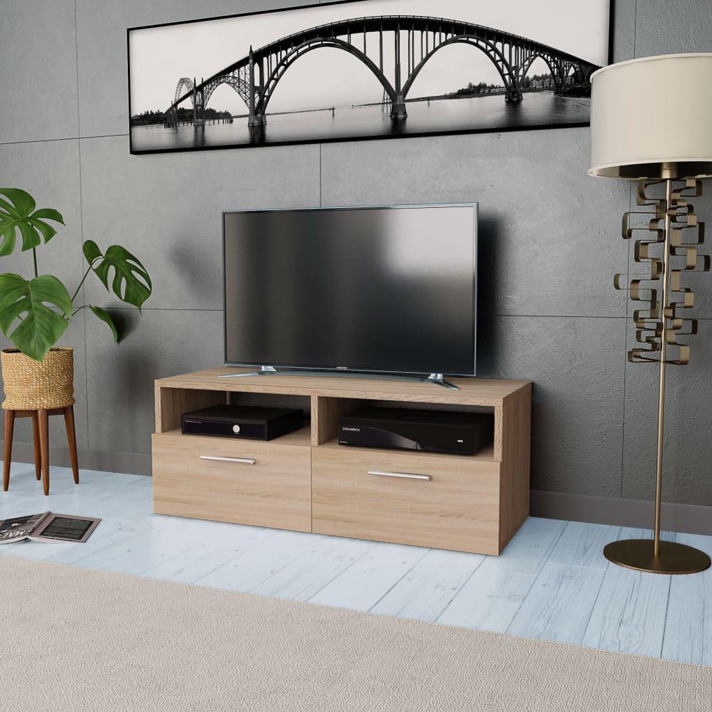vidaXL Stolek pod TV, dřevotříska, 95 x 35 x 36 cm, dub