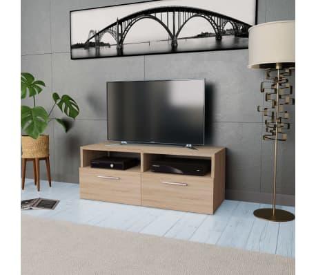 vidaXL Tv-meubel 95x35x36 cm spaanplaat eikenkleurig[1/5]