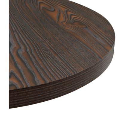 vidaXL Bistro staliukas, MDF ir plienas, apval., 60x75cm, tams. uosis[4/6]
