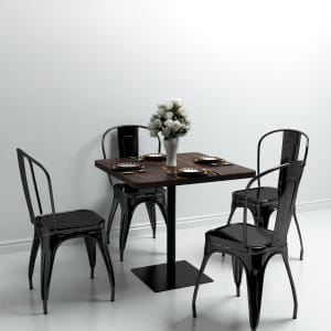 vidaXL Bistro Table Coffee Shop Bar Dinner Dining Room Kitchen Restaurant Desk Stand Easy to Assemble and Clean Dark Brown 60X60cm MDF